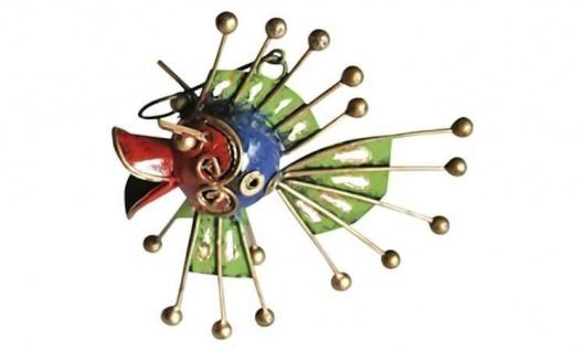 Metallfigur Kugelfisch Kurt