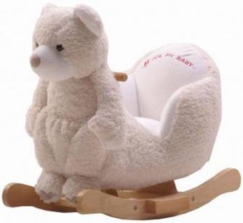 Schaukeltier Bär Polar, mit Handpuppe