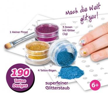 GLITZA - Nagel Set inkl. 190 Tattoos