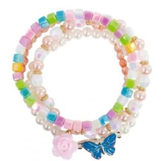 Pearly Butterfly Armband, 4er Set - Kinderschmuck