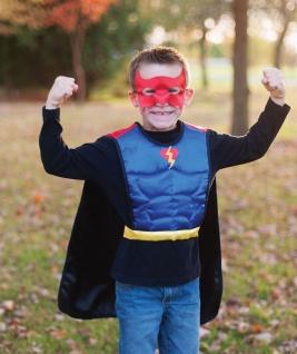 Kinderkostüm Bat/Superheld-Wendeset, Grösse M