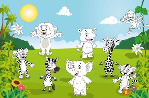 XXL Poster Kinder, Tiere zum Ausmalen