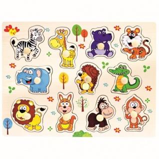 Bino Steckpuzzle Safari, Puzzle 11teilig