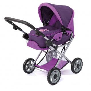 Kombi-Puppenwagen Maxi Farbe lila