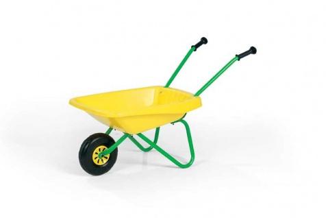 Rolly Toys Kinderschubkarre mit Kunststoffschüssel Schüssel gelb