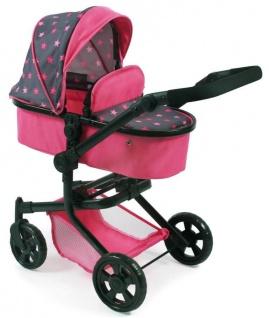 Kombi-Puppenwagen MIKA, Sternchen pink