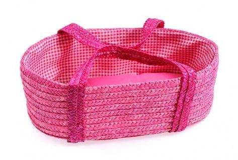 Stroh-Tragetasche pink