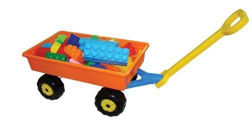Handwagen mit Bausteine Riese