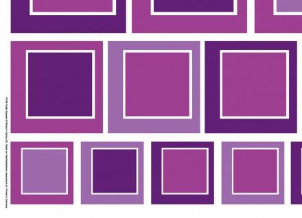 Wandtattoo Abstrakt, Vierecke Violet, selbstklebend - Vorschau 3