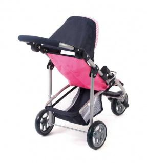 Jogging-Buggy LOLA für Puppen Dessin Pink Checker