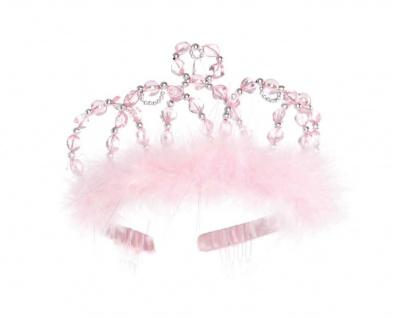 Prinzessinnen-Diadem, rosa-silber, für Kinder