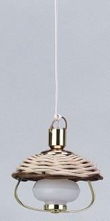 Hängelampe Petroleumlampe geflochten, für Puppenhaus