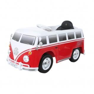 Kinderfahrzeug VW BUS T2, 6V, bis 35 kg, rot