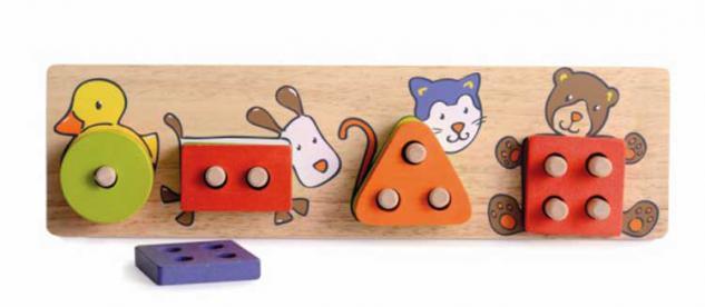 Stapelspiel aus Holz