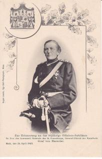 Ansichtskarte Graf von Haeseler, ein altes Original