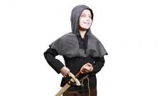 Ringpanzerhemd, schwarz - Ritterkostüm für Kinder Grösse 128