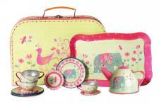 Tee-Set im Koffer, Motiv Indien