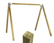 Schaukelgestell Doppelschaukel Holz Luxus 1.1