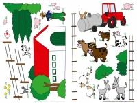 Wandtattoo Bauernhof, für Kinderzimmer, selbstklebend