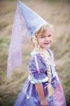 Rapunzel-Hut mit Zopf - Faschingshut für Kinder
