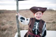 Kostüm Piraten-Skelett-Set