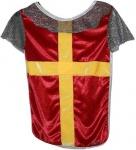 Ritterhemd für Ritter und Könige, rot/gold, Größe M