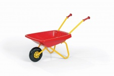 Rolly Toys Kinderschubkarre mit Kunststoffschüssel Schüssel rot