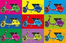 XXL Poster Kunst Pop Art, Roller