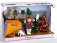 10 teiliges Puppenspielset mit Puppe Miss Nicy