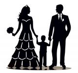 Hochzeitsdeko Hochzeitspaar mit Kind für die perfekte Tischdeko für Ihre Hochzeit