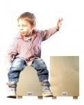 Kids Musikhocker Natur inkl. Aufkleber und Lern-CD