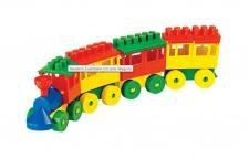 Baustein Eisenbahn 3 Wagons