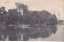 Ansichtskarte Altenburg, Die Insel mit gr. Teich, ein altes Original, PLZ 04600