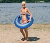 Wasserring, Schwimmring 90 cm 3-farbig sortiert, blau, rot und gelb