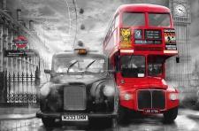 XXL Poster London, Taxi und Bus