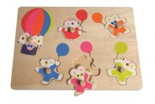 Holzpuzzle Farben