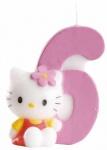 Kuchenkerze Hello Kitty Zahl 6