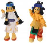 Indianerjunge Yakari und Indianermädchen Regenbogen im Set