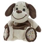 Heunec Hund aus Kord-Material, Grösse 25 cm