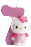 Kuchenkerze Hello Kitty Zahl 7