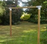 Holzschaukel - Doppelschaukel mit Cubic Beschläge 9x9 KDI