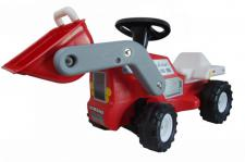 Babyrutscher Traktor mit Frontschaufel, im Geschenkkarton