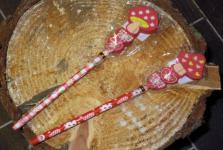 Bleistift mit Radiergummi Hüttenglück, 1 Stück