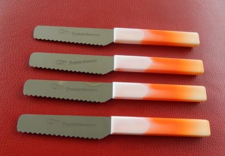 Brötchenmesser Frühstücksmesser Orange von ISS aus Solingen