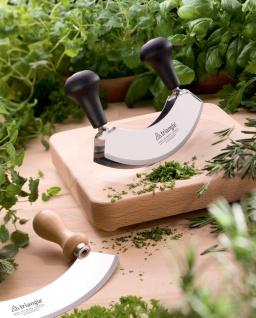 Kräuterbrett - Schneidbrett mit Mulde für Wiegenesser triangle® aus Solingen