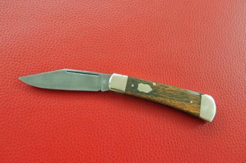 Damast-Taschenmesser, 300 Lagen, Dalbegiaholz von F.Hartkopf