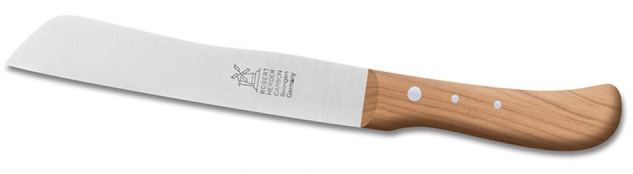 Brotmesser ca. 182 mm / 7 Zoll Klinge:-carbon Griff: Kirsche von Windmühlenmesser aus Solingen