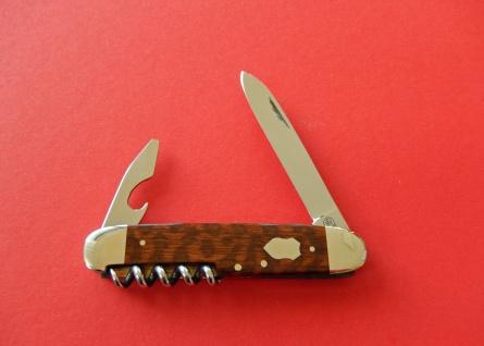 F.Hartkopf Taschenmesser, rostfrei, Korkenzieher, Kombiwerkzeug, Schlangenholz