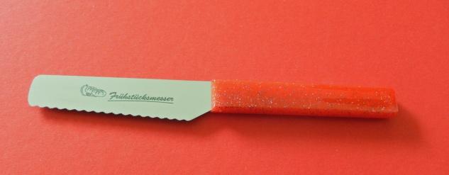 Brötchenmesser Frühstücksmesser rot von ISS Solingen