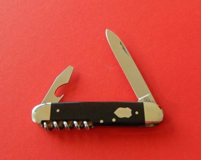 F.Hartkopf Taschenmesser, rostfrei, Korkenzieher, Kombiwerkzeug, Ebenholz,